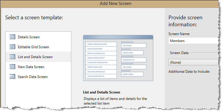 add screen to table